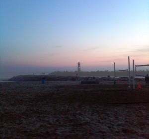 Santa Cruz lighthouse at sunset