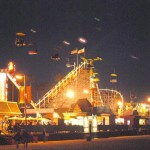 Santa Cruz boardwalk at night