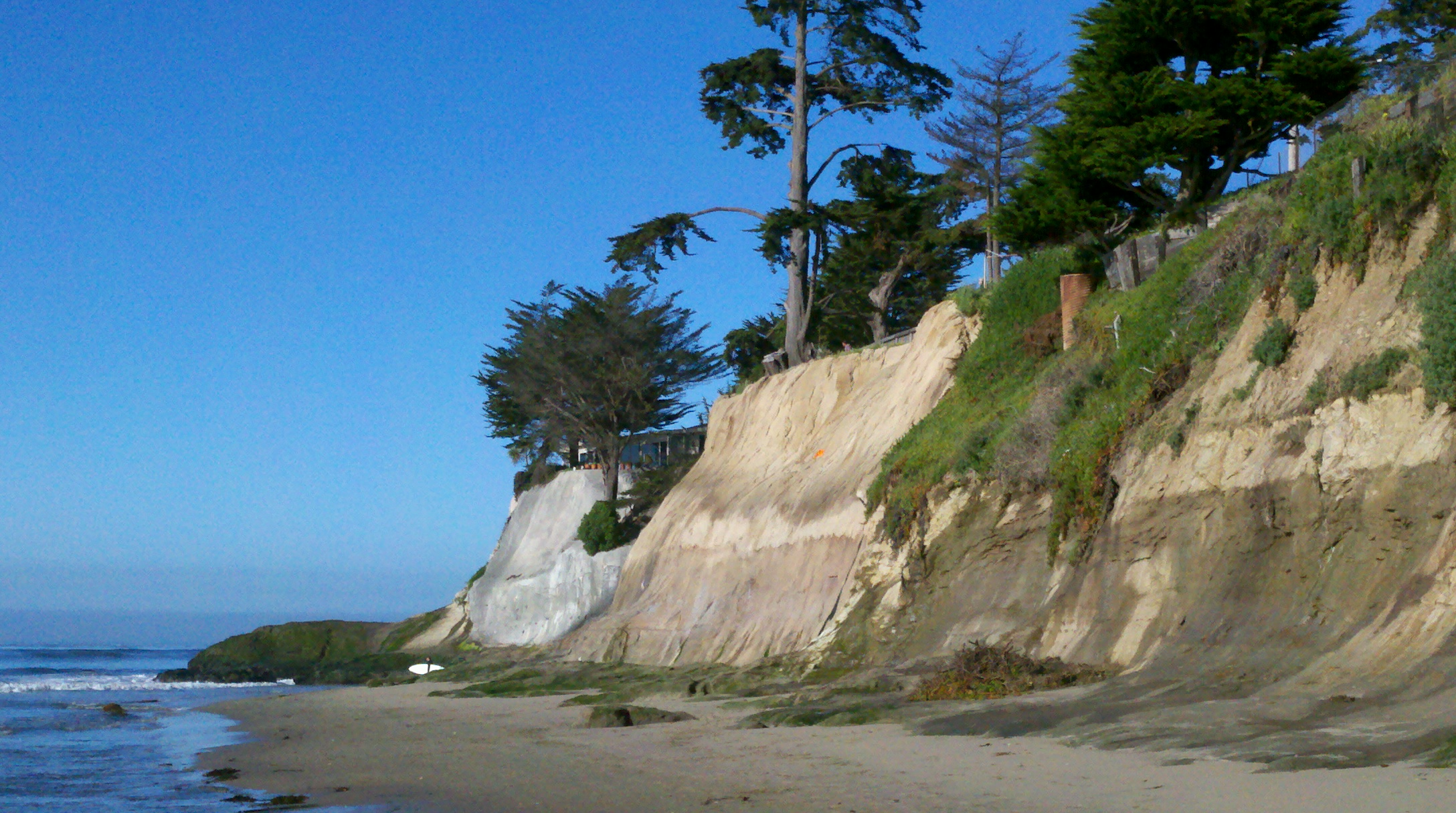 stretch of Santa Cruz beach known as Pleasure Point