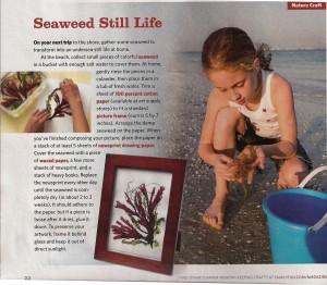 SeaweedArt in FamilyFun Magazine