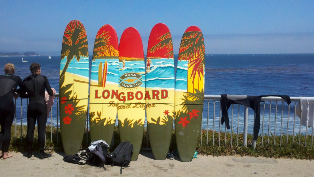 """image of Longboard graphic on surfboards"""