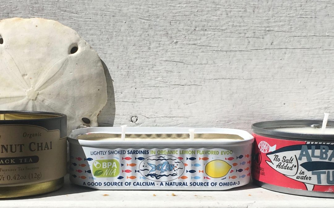Sea-Inspired Tin Container Candles