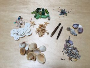 image of assorted seashells and beads