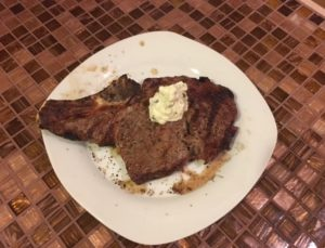 image of grilled rib eye steack